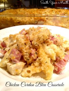 Chicken Cordon Bleu Casserole. [My family loved this one! I left out the Dijon mustard in case the kids could taste it.]