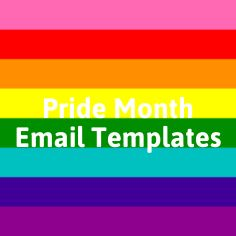 Email Template Design, Email Templates, Email Design, Email Campaign, Pride, Inspiration, Biblical Inspiration, Gay Pride, Inhalation