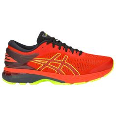 Asics Gel Kayano 25 Active Performance Running Shoes Cherry Tomato Black Running Shoes For Men Asics Black Asics