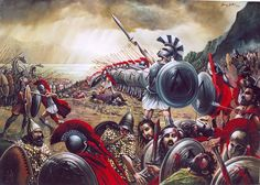 """Giannis Nikou, """"The fall of Constantinople""""  520X230 cm, oil on canvas, 1995"""