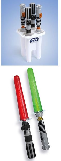 Epic Light Saber Popsicle Maker.....  I NEED this for the kids!  Super cool!  $34