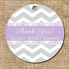 Chevron & Lace Gift or Favor Thank You Tag by CamilleMonacoDesigns, $2.75