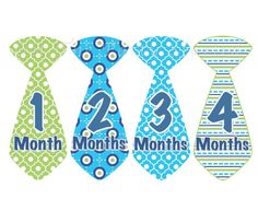 Baby Month Stickers Baby Boy Monthly Onesie Stickers Tie by getthepartystarted, $12.00 more baby shower gift ideas at  http://www.etsy.com/shop/getthepartystarted?section_id=6771147