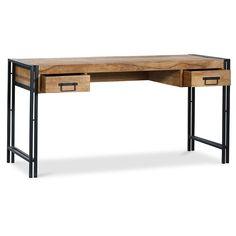 Mesa de escritorio de madera Onawa estilo industrial vintage