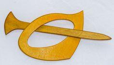 Fibel und Haarspange aus Holz von AtelierSinger auf Etsy