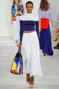 Ralph Lauren Spring 2016 Ready-to-Wear Collection Photos – Vogue – New York Fashion New Trends Fashion Moda, Fashion Week, New York Fashion, Look Fashion, Fashion Show, Fashion Trends, Fashion 2016, High Fashion, Ralph Lauren Style