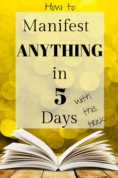 How to manifest anything 5 days with this law of attraction trick plus a free law of attraction course on how to overcome the 5 most common barriers to using the law of attraction to manifest your life goals. Manifestation Law Of Attraction, Law Of Attraction Affirmations, Manifestation Journal, Law Of Attraction Money, Law Of Attraction Quotes, Money Affirmations, Positive Affirmations, Chakra Affirmations, Abraham Hicks