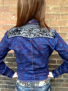 Paisley and Diamonds! Sweet!  www.thefunkycowgirl.com