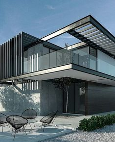 Modern house - All About Residential Architecture, Amazing Architecture, Contemporary Architecture, Interior Architecture, Design Exterior, Modern Exterior, Architecture Magazines, O Design, Facade House