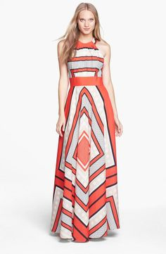 Love this Geo Print Maxi Dress for Spring