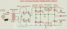 connection diagram for dual polarity power supply circuit