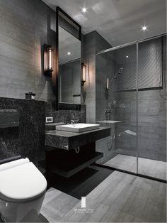 Modern Luxury Bathroom, Bathroom Design Luxury, Modern Bathroom Design, Small Luxury Bathrooms, Dream House Interior, Dream Home Design, Home Interior Design, Dark Bathrooms, Dream Bathrooms