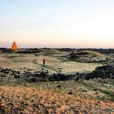 Snaefellsness Iceland Hiking - beautiful unique landscape with orange lighthouse | Instagram photo by @Lauren Davison Hayes via Statigram