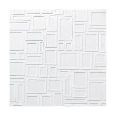 Paintable Wallpaper- Squares, White ($21) ❤ liked on Polyvore featuring home, home decor, wallpaper, backgrounds, white, white textured wallpaper, graham brown wallpaper, paintable wallpaper, white pattern wallpaper and paintable textured wallpaper