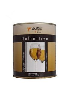 Youngs Grape Juice concentrate. Medium Dry White - Buy wine kits online UK.