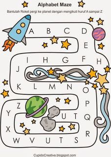 belajar labirin dan huruf A-Z #belajaranak #belajarbaca #huruf #balita #TK