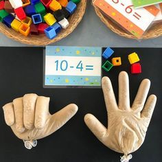 Subtraction Hands ✋🏼🤚🏼 Every year this activity is a winner with . - Subtraction Hands ✋🏼🤚🏼 Every year this activity is a win for my cherubs and every year I - Preschool Learning, Kindergarten Classroom, Teaching Math, Classroom Teacher, Future Classroom, Toddler Learning Activities, Preschool Activities, Subtraction Activities, Activities For 5 Year Olds