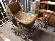 antique baby carriage | Antique Wicker Baby Carriage | Baby buggies