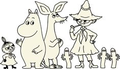 Looking to sell Moomin wholesale? Tove Jansson, Cute Little Drawings, Cute Drawings, Estilo Coco Chanel, Moomin Valley, Family Drawing, Little My, Line Drawing, Kitsch