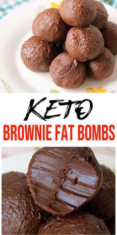 Low carb 5 ingredient chocolate brownie fat bombs everyone loves… Keto Fat Bombs! Low carb 5 ingredient chocolate brownie fat bombs everyone loves. Mix up a few ingredients for this fudgy NO BAKE keto recipe. Desserts Keto, Keto Dessert Easy, Keto Snacks, Easy Desserts, Keto Sweet Snacks, Stevia Desserts, No Carb Snacks, Holiday Desserts, No Carb Foods