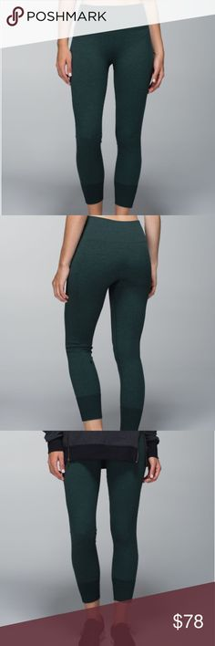 """Lululemon Ebb To Street Pant Heathered Fuel Green Love these sleek, lightweight pants to take us through our day without a fuss. The green heathered color is amazing!! Breathable, sweat-wicking fabric & a seamless construction keep you comfortable! Lightweight, breathable fabric! Wide, smooth waistband covers without digging. Where there are seams, they're flat for comfort! Size 12. Approx. 16.5"""" at waist & 34.5"""" long. Like New! No flaws! Hang tag still attached. C40M186051017 lululemon…"""