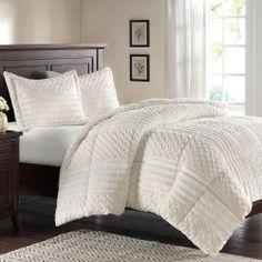 Premier Comfort Silverton Fur Down Alternative 3-piece Comforter Set | Overstock.com Shopping - The Best Deals on Comforter Sets