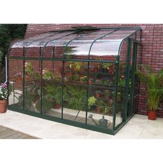 Halls Silverline 12ft x 6ft Lean-to Greenhouse (Green)