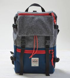 Okay this is pretty awesome. Exclusively at American Eagle Outfitters, part of their Made in America (Wear America) collection. Grey TOPO x Woolrich x AEO Rover Pack