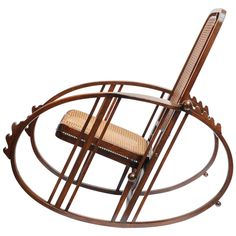 Many of his pieces would be classified as having an Art Nouveau type style to them. This 'Egg' Rocking chair is an example of where this style comes into play. Unusual Furniture, Art Furniture, Antique Furniture, Modern Furniture, Furniture Design, Vintage Rocking Chair, Rocking Chairs, Cafe Chairs, Desk Chairs