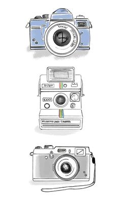 photography drawings, photography graphic design, photography fashion, and photography design art. Camera Drawing, Camera Art, Camera Doodle, Vintage Camera Tattoos, Camera Wallpaper, Drawing Wallpaper, Camera Tattoo Design, Pink Camera, Camera Illustration