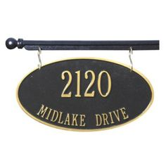St. Yorre Hanging Address Sign - Two Sided Hanging Address Sign - Arch , Oval , Rectangle