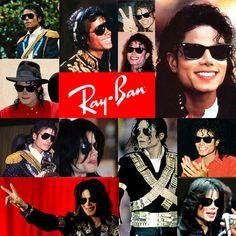 De Ray-Ban zonnebril van Michael Jackson .