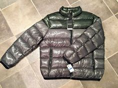 4e4a21db7bd1 DKNY Mens Essential Puffer Down Jacket NWT - Green Silver XL   XXL (MSRP   275)   fashion  clothing  shoes  accessories  mensclothing  coatsjackets  (ebay ...