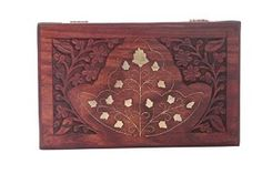 Wooden Jewelry Box Inlay & Carving Work 7x5,vestige Box from IndiaBigShop Available at joyfulcrown.com