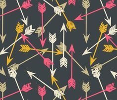 Arrows_scattered_navy_new_shop_preview - Arrows - Option 2