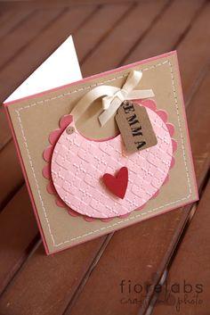 Cute Bib Card {blog is in Italian}