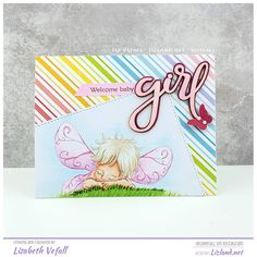 Fairy sleepy – | Lizland | Baby Fairy, Welcome Baby, Mo S, Lawn Fawn, Copics, Baby Cards, Wings, Crafty, Photo And Video