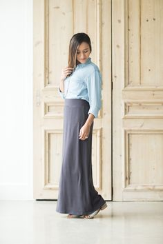 fa0ecb991c0f Modest Women's Clarise Maxi Skirt | Inherit Clothing Company – Inherit Co.  Below The Knee