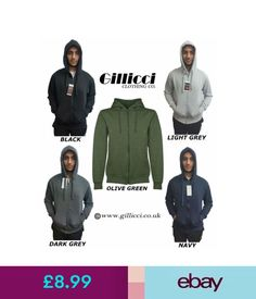 Hoodies & Sweats Mens Gillicci Fleece Zip Warm Hoodie Hooded Sweat Sweatshirt Jumper #ebay #Fashion