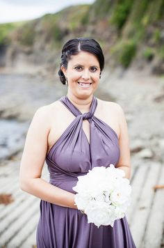 Love how Kahlee's bridesmaid wore it with knotted front halterneck look of the Goddess By Nature signature butterfly in the Twilight colour here.