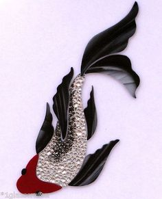Butterfly koi fish stained glass precut inlay kit. Great for your mosaic projects.