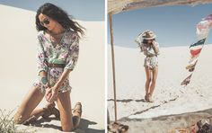 Such a cool look 4 a Festival.  Spell & Gypsy Collective: White romper.