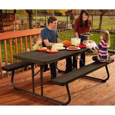 Exceptional Lifetime Folding Picnic Table 60105 6 Foot Dark Brown Faux Wood