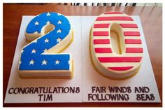 Navy Retirement Cake | Cookie Connection