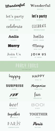 Free & fabulous party fonts (A Subtle Revelry) Handwritten Fonts, Calligraphy Fonts, Typography Fonts, Graphic Design Typography, Logo Design, Fancy Fonts, Cool Fonts, Party Font, Design Fonte