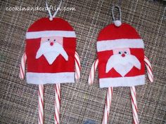 Quick & Easy Felt Ornaments with Candy Canes! Snowmen and Santa's