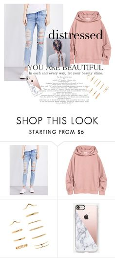 """distressed, depressed, and well dressed 💫"" by maryschvaneveldt on Polyvore featuring Tortoise, Forever 21 and Casetify"