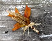 What a great autumn time alternative for the traditional buttonhole
