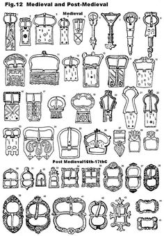 buckles of medieval and renaissance