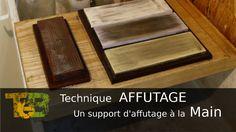 Support d'affûtage à la main pour fer de rabot et ciseau à bois